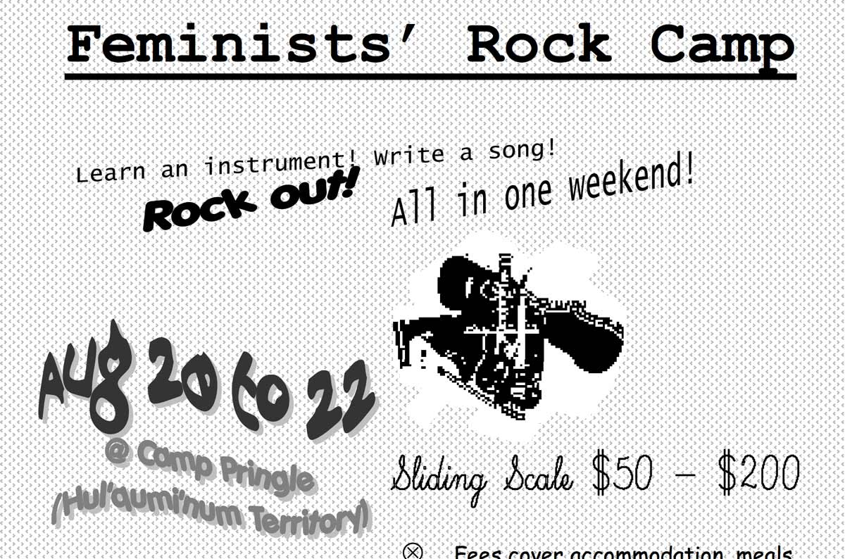 Partial poster, Feminist Rock Camp